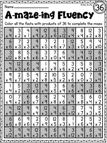 Multiplication Fact Fluency Practice That Seem Like Games I Love These Activities For Multiplication Facts Practice Math Fact Fluency Fact Fluency Worksheets