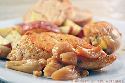 40 Cloves and a Chicken #chicken #garlic #recipe
