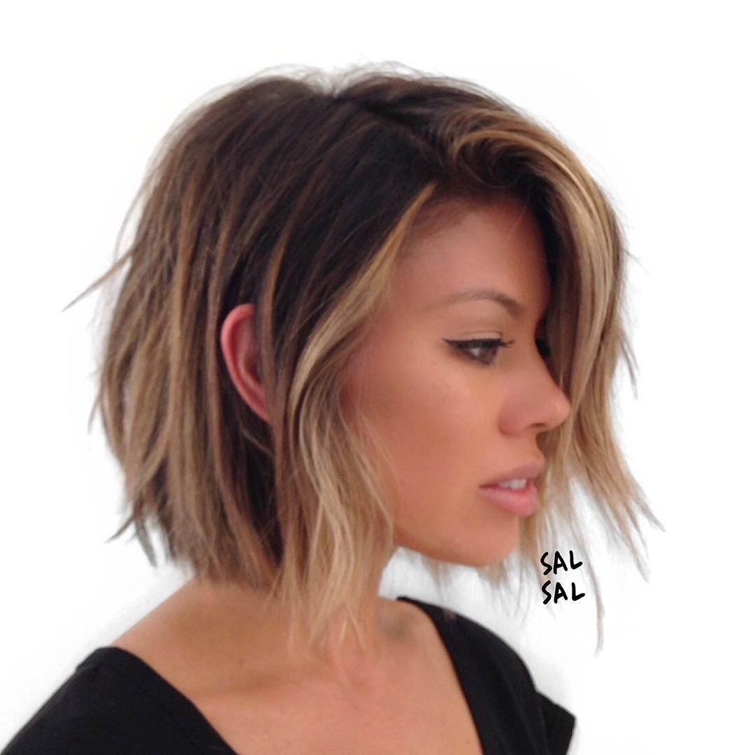 Side view color brendakamt cutstyle salsalhairud hair