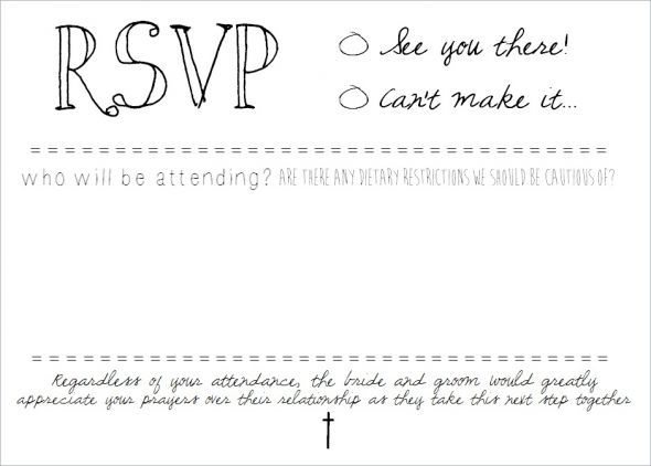 rsvp cards for weddings templates - rsvp postcard inserts diy on microsoft word wedding