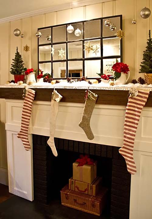50+ Absolutely Fabulous Christmas Mantel Decorating Ideas   Christmas  Mantel Decor