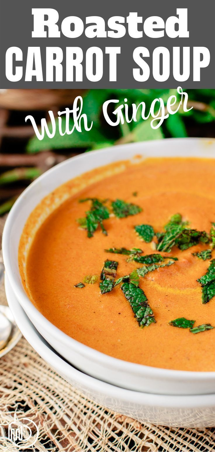 Roasted Carrot Soup with Ginger  The Mediterranean Dish All the comfort in this creamy roasted carrot ginger soup This is our familys favorite The flavors are epic
