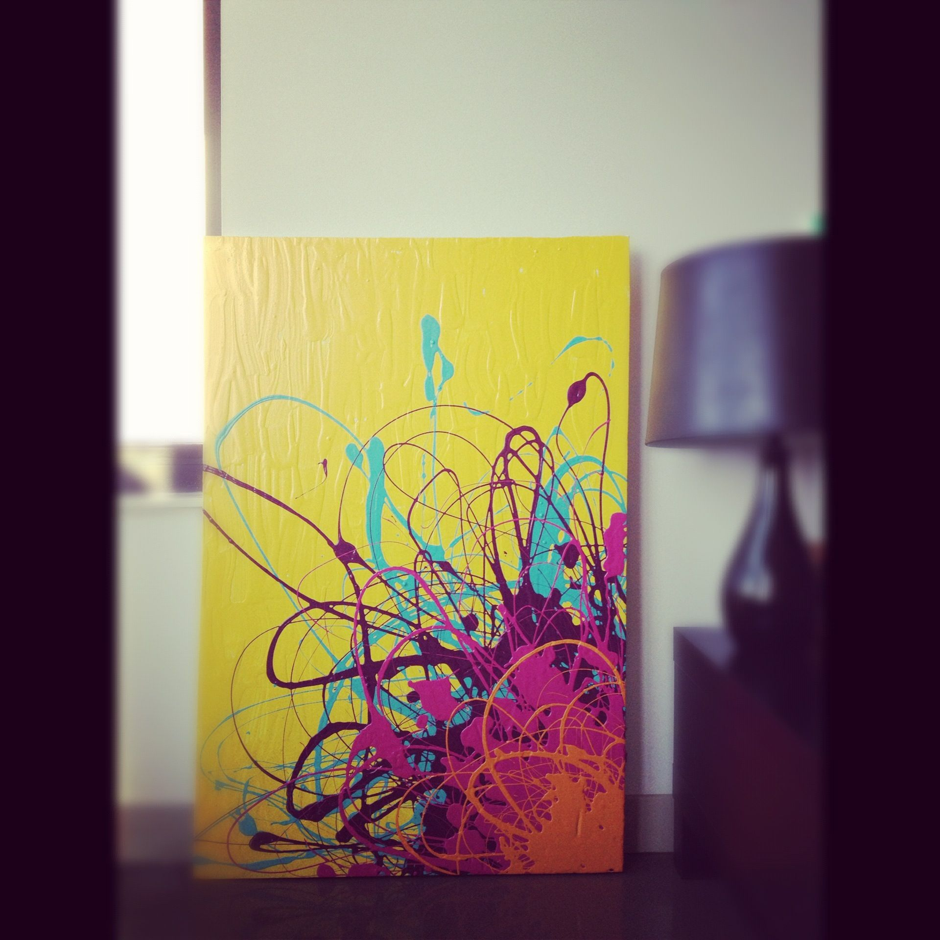Latex On Canvas Sold