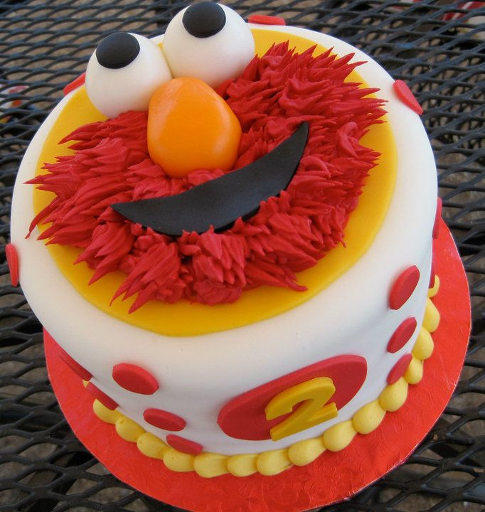Elmo Themed Birthday Cake