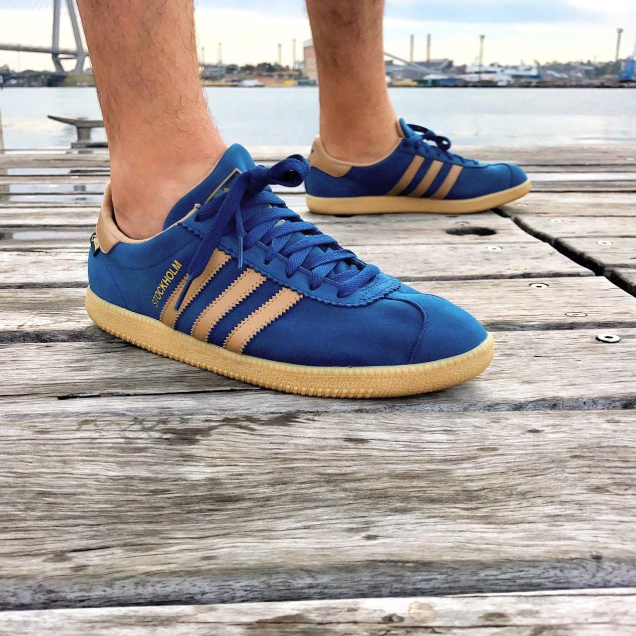 Adidas OG Trimm Star Athens CW Blue white Gum UK 100