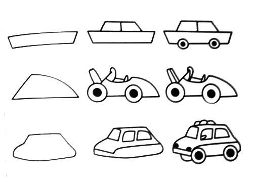 how to draw a car step - Cars Drawings Step By Step