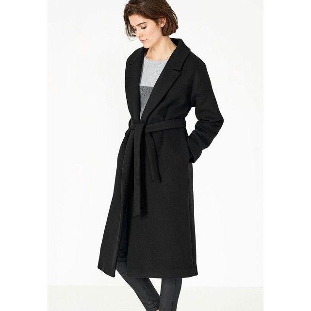 b1f6536b02dca Manteau maxi avec col à revers HALLHUBER   La Redoute   Coat, Duster ...