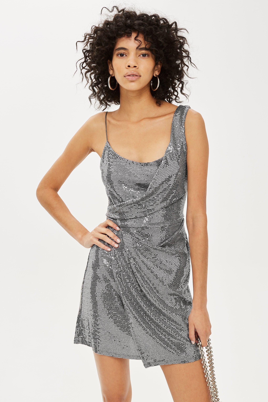 3f1a9993f14 Drape Sequin Mini Dress