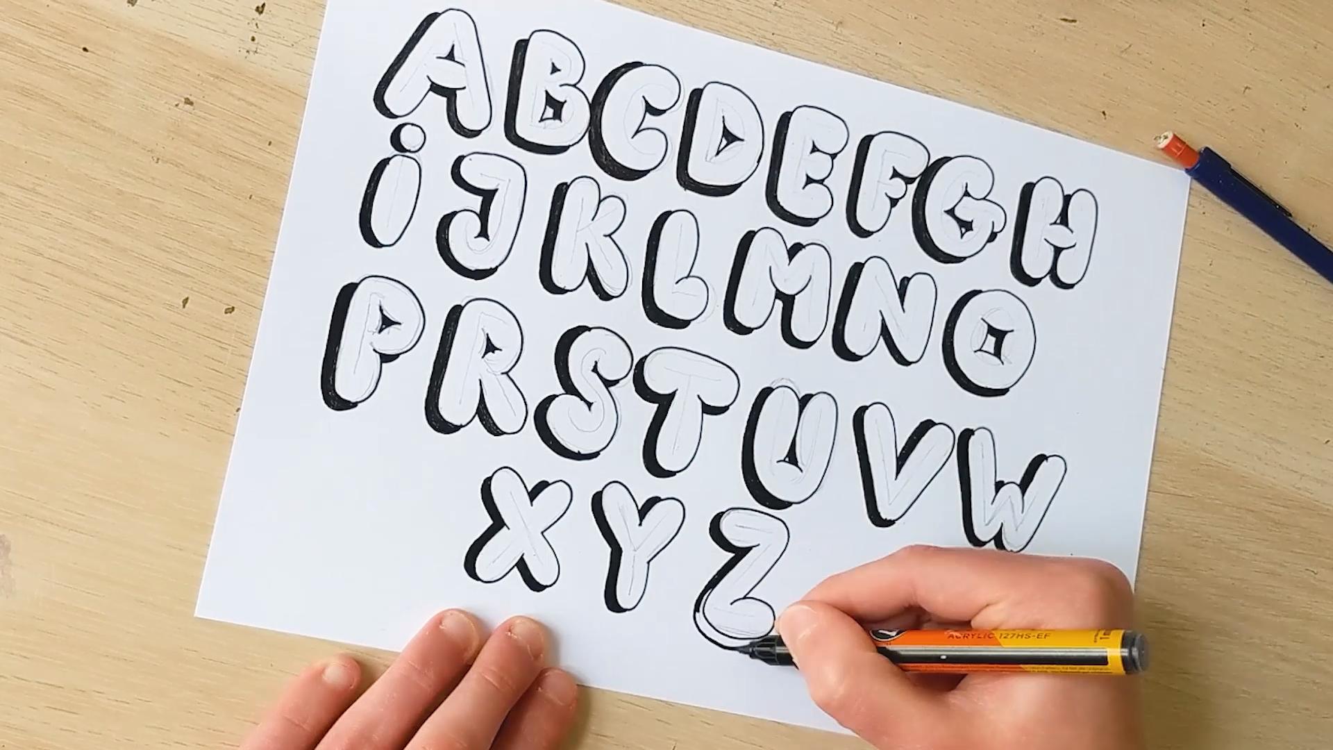 Photo of Wie zeichnet man Blasenbuchstaben – Schritt für Schritt Tutorial