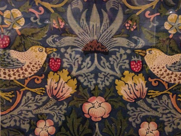 W Morris-Strawberry Thief printed cotton (design registered in 1883)
