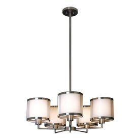 Trend lighting 5 light lux brushed nickel chandelier kitchen above trend lighting 5 light lux brushed nickel chandelier kitchen above table aloadofball Image collections
