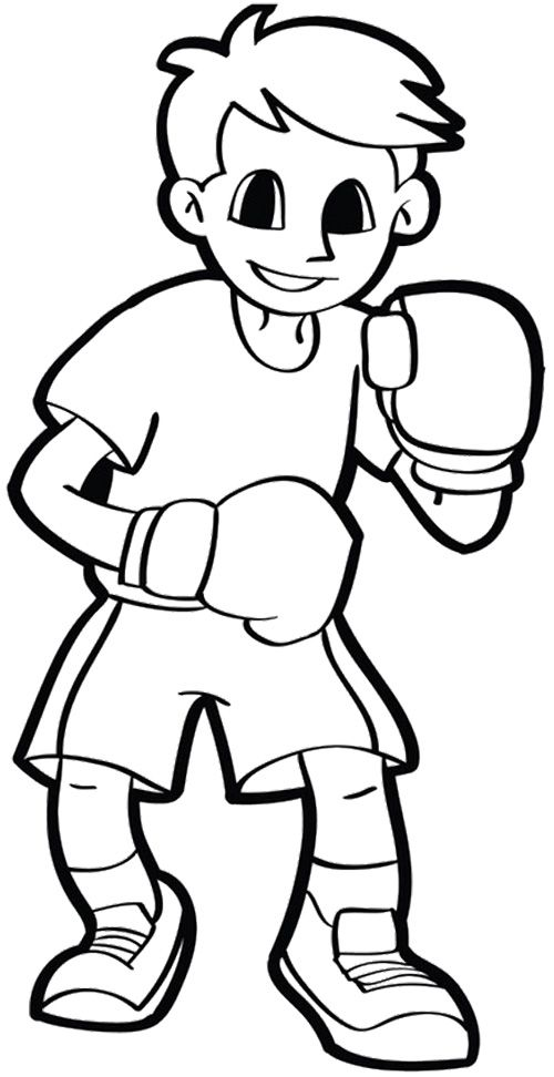 attacked enemy strong boxing coloring pages