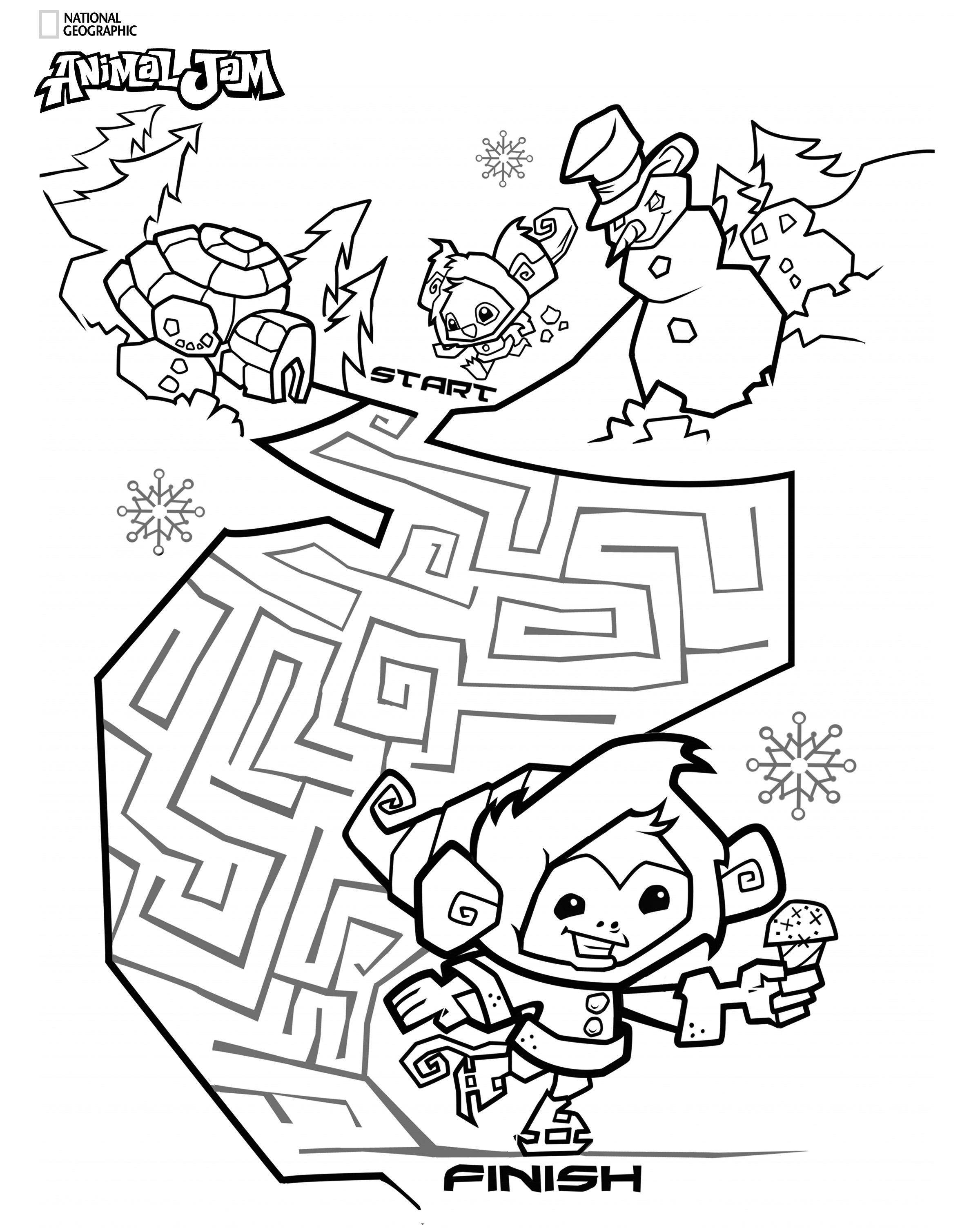 Coloring pages animal jam - Looking For Something To Do After The Kids Have Maxed Out Their Screen Time Print Jasmine Partyanimal Jamletter Csomething To Domazecoloring Pagesthe