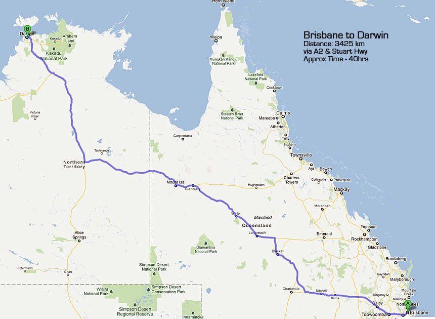 Australia Driving Map.Road Map Brisbane To Darwin Diverse In 2019 Australian Road