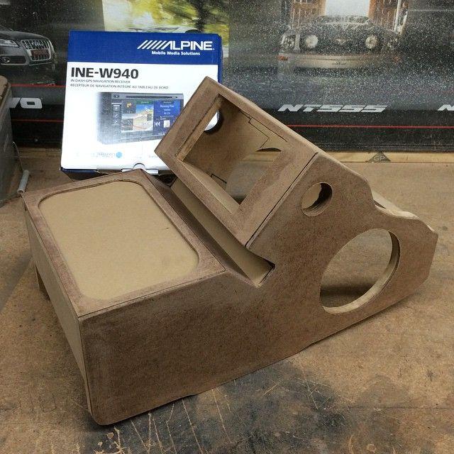 Handmade Toy Car Holder : Car audio double din custom console cup holders leds