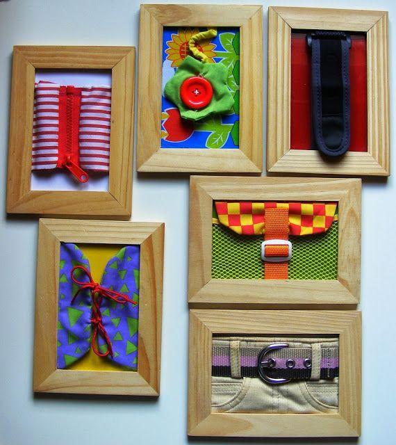 DIY Montessori Dressing Frames - Color Your Life in Joy
