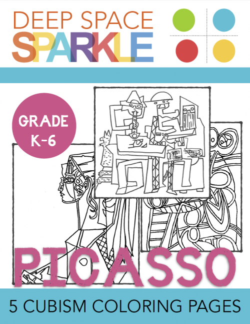 picasso & cubism coloring pages | picasso cubism, deep space ... - Famous Art Coloring Pages Picasso