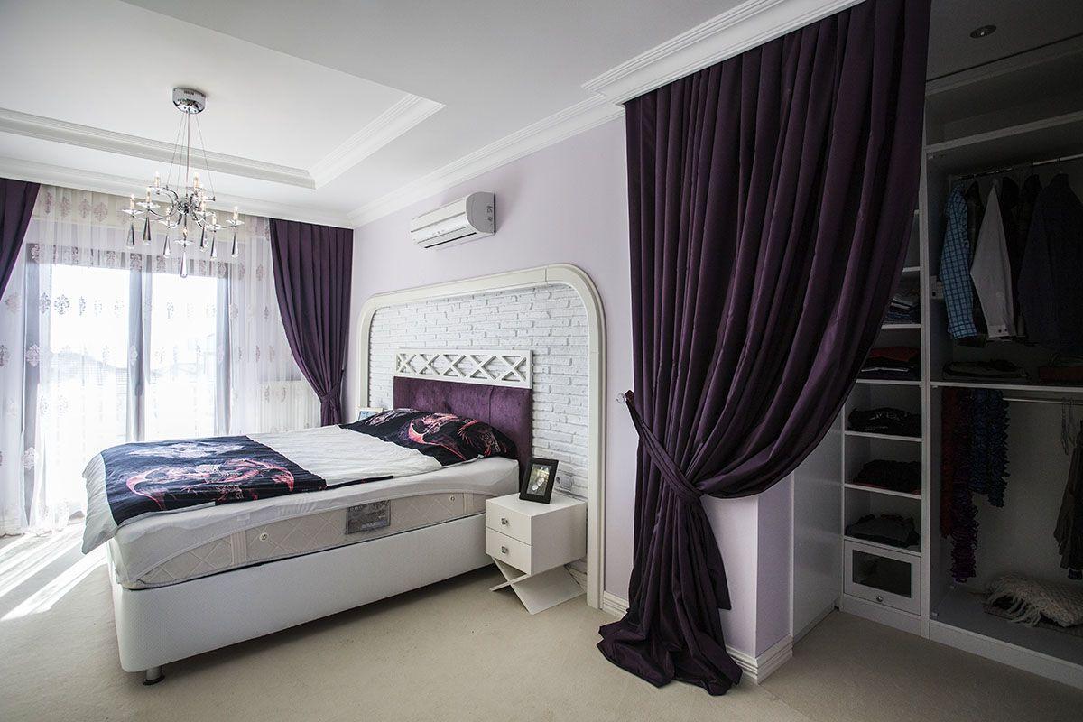 Modern ah ap tavan tasar m ile yatak odas dekorasyonu - Villa Dekorasyon Rnekleri Villa Yatak Odas
