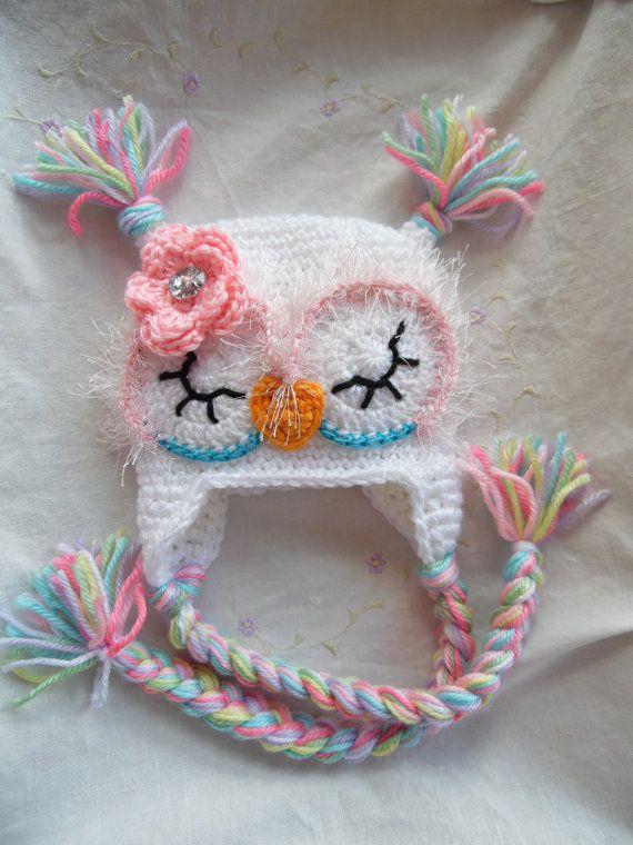 Photo Prop Baby Hat Aqua Owl Hat Aqua Baby Owl Hat Baby Owl Hat Newborn Prop Newborn Owl Hat Crochet Owl Hat Owl Baby Shower Gift