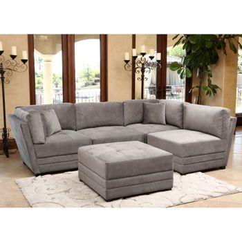Leyla 5 Piece Fabric Modular Sectional Sectional Living Room