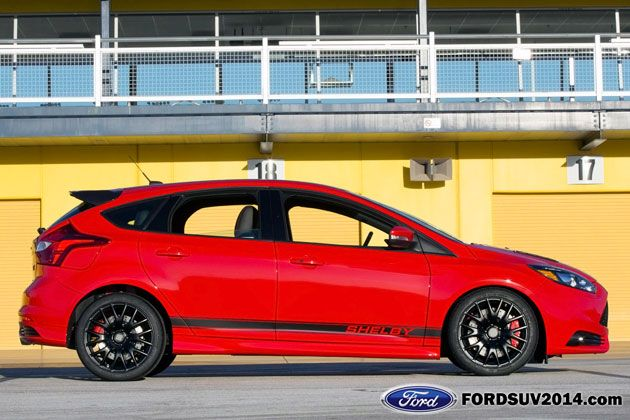 2014 Shelby Ford Focus St Red Side View With Images Ford Focus