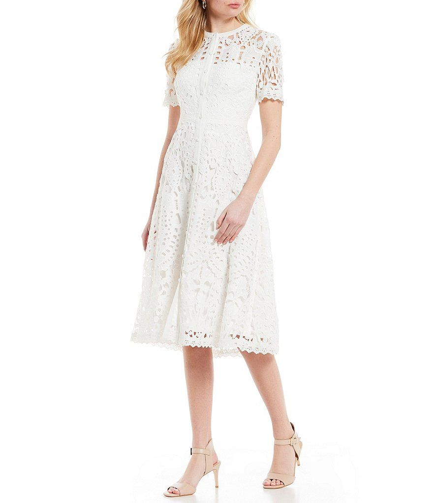 Antonio Melani Ada High Neck Lace A Line Midi Dress Dillard S Dillards Wedding Dresses Dresses Dress Gallery