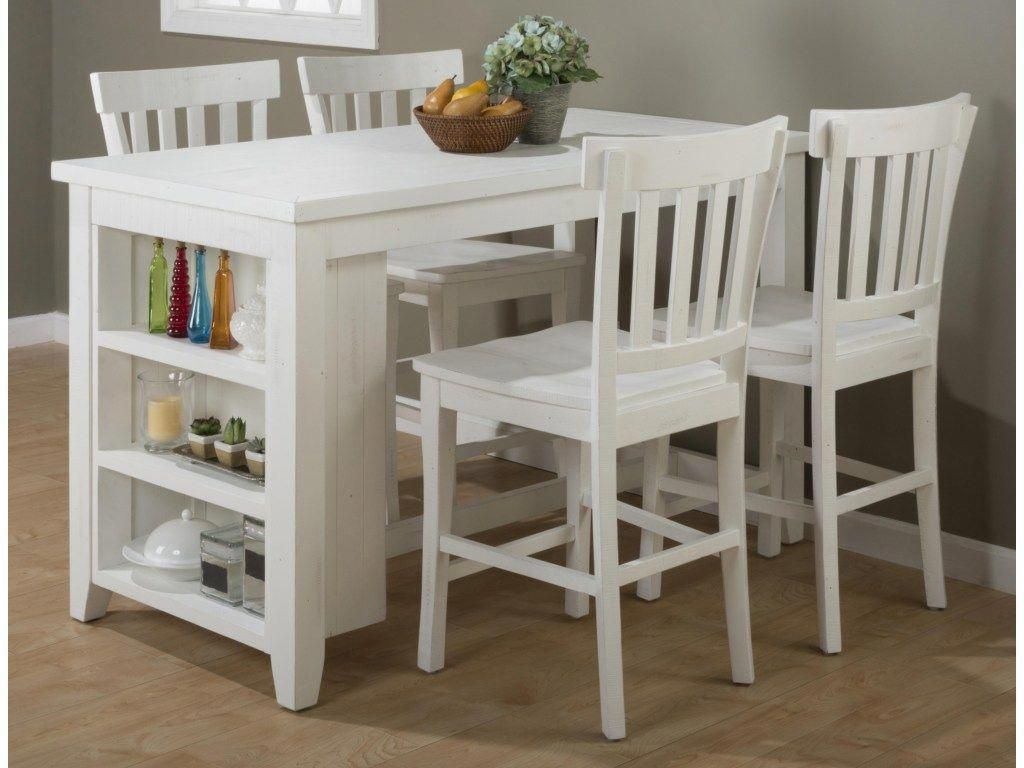 Jofran island nookreclaimed pine counter height table set