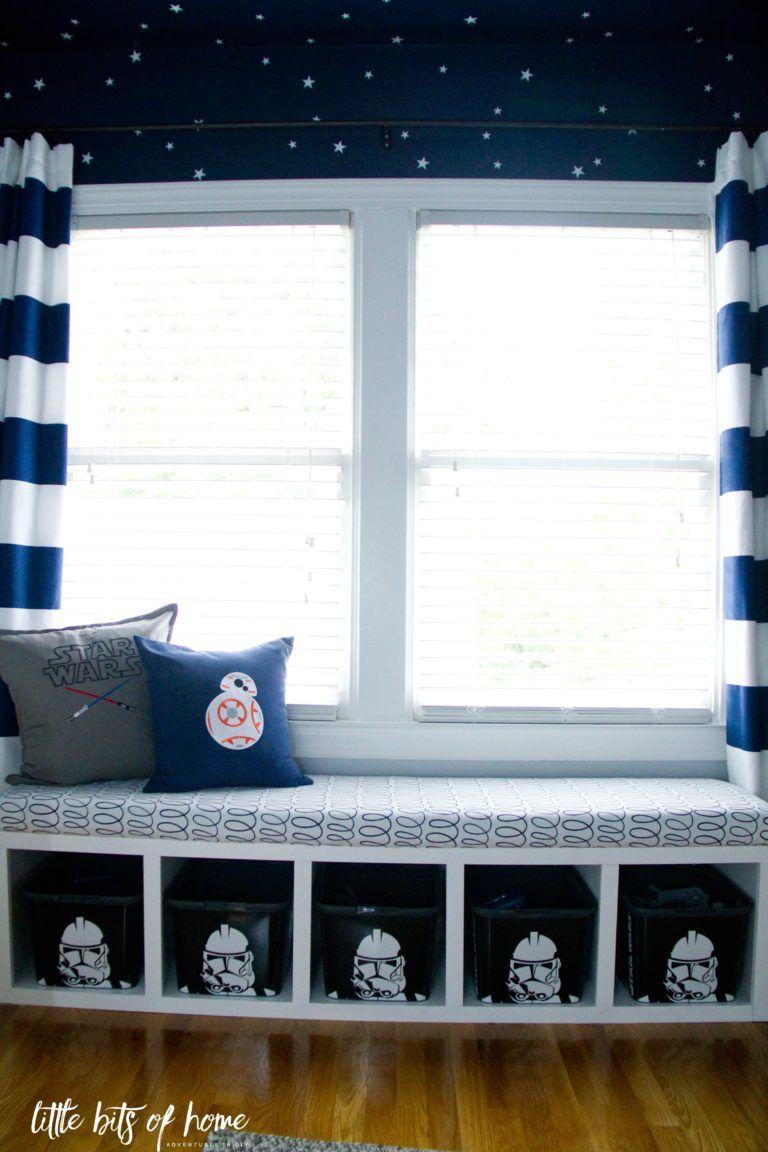 star wars big kid bedroom window seat verticle | habitación star ...