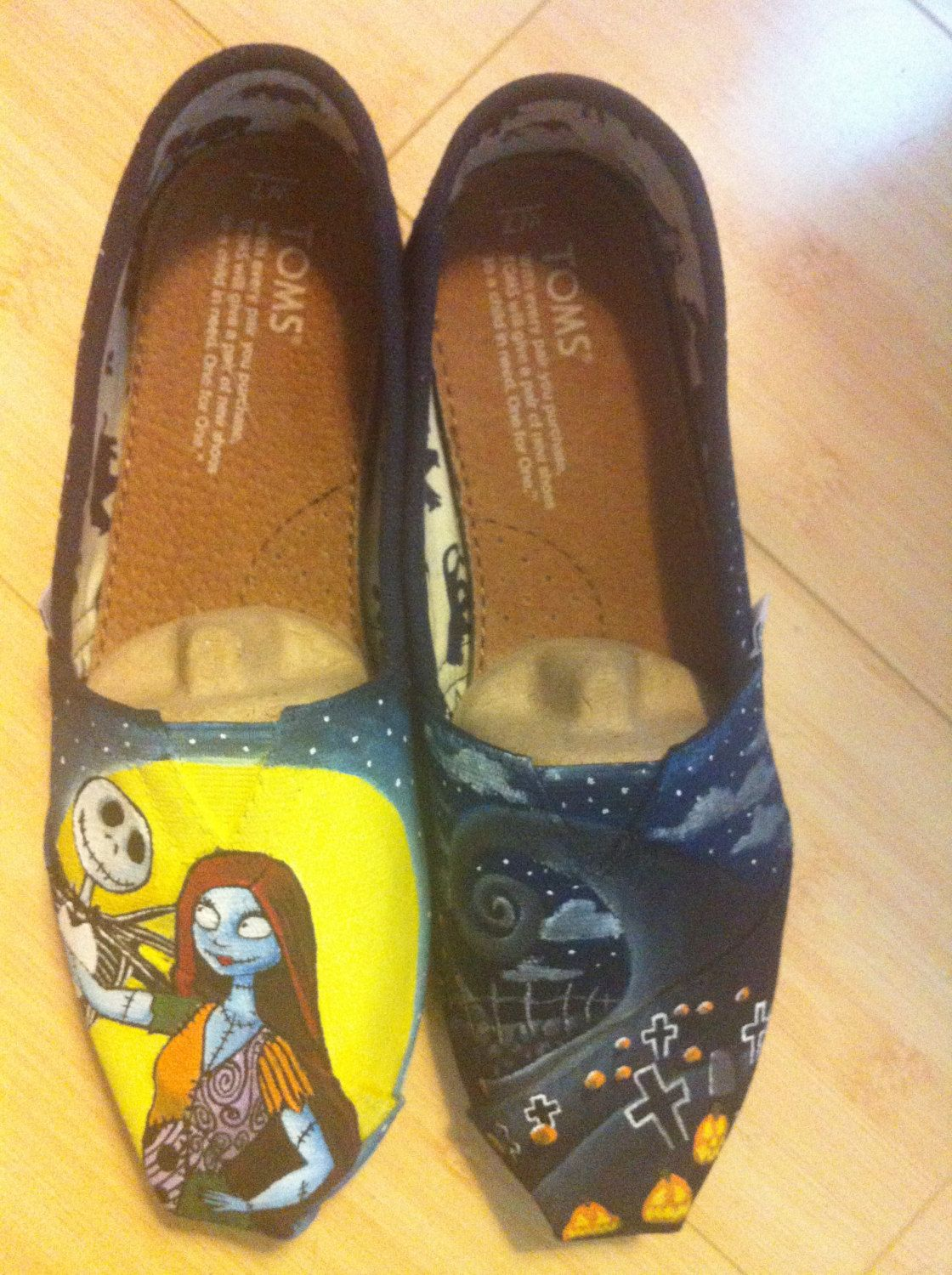 Nightmare Before Christmas, Custom TOMS Shoes, Featuring Jack ...