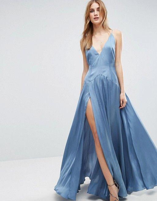 Asos Cami Panelled Thigh Split Maxi Dress Jessabella Queldal