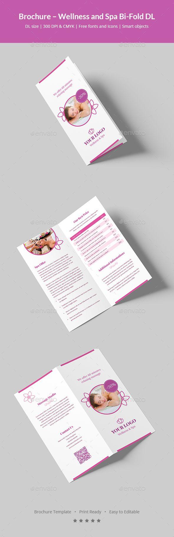 Brochure Wellness And Spa Bi Fold Dl Flyer Template Psd Brochure
