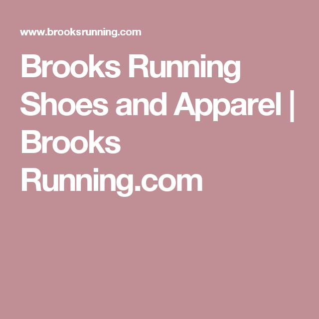 Brooks Running Shoes And Arel