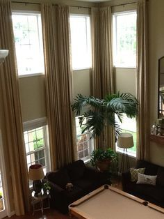 Delightful Two Story Window Treatment Ideas For Family Rooms   Google Search. Two Story  WindowsLiving Room CurtainsDecor ... Part 27