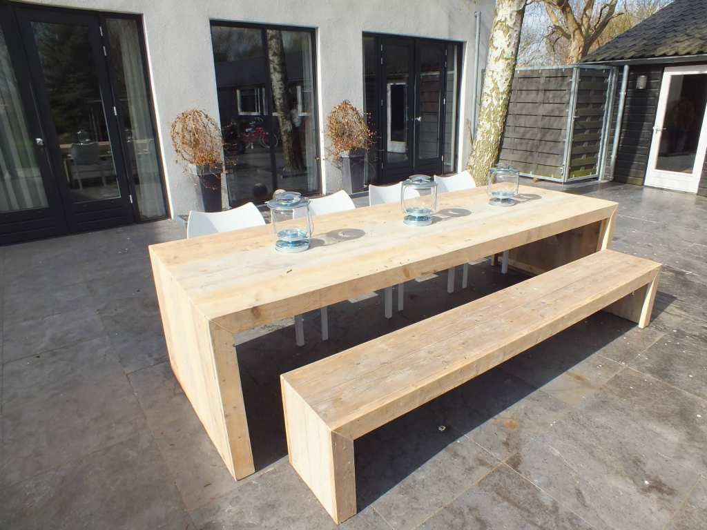 Steigerhout furniture steigerhout tafel olavi for Tafel op maat