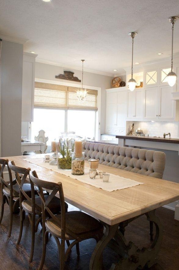 upholstered dining fabulous banquette bench chair dining room furniture salle manger. Black Bedroom Furniture Sets. Home Design Ideas