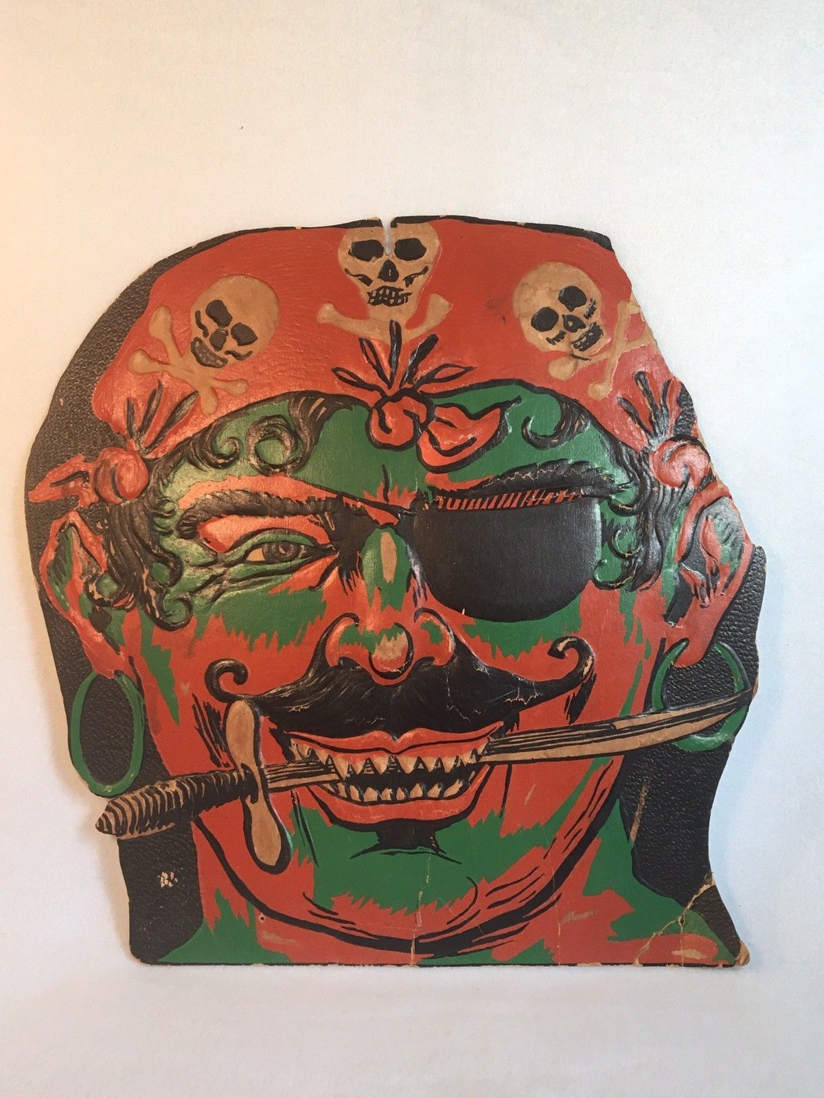 vintage 1920s die cut rare pirate embossed halloween decoration ebay