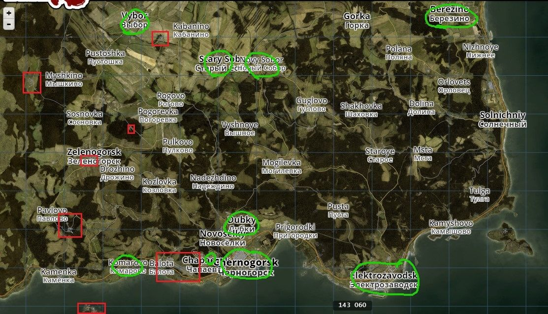 Dayz Db Map basic loot and scavanging guide outdated 054 dayzrp mod ...