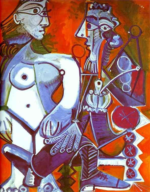 "Pablo Picasso, ""Female Nude and Smoker"", 1968"