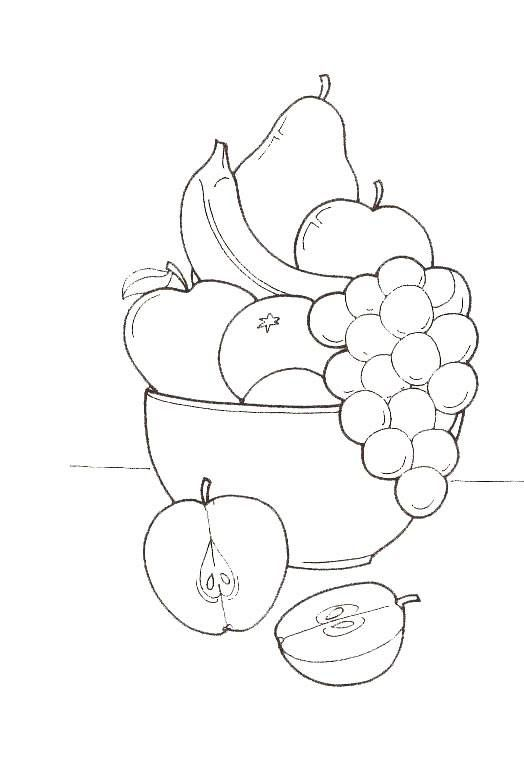 Coloring Pages Fruit And Vegetables 21 Obrysy Kresleni Sablony