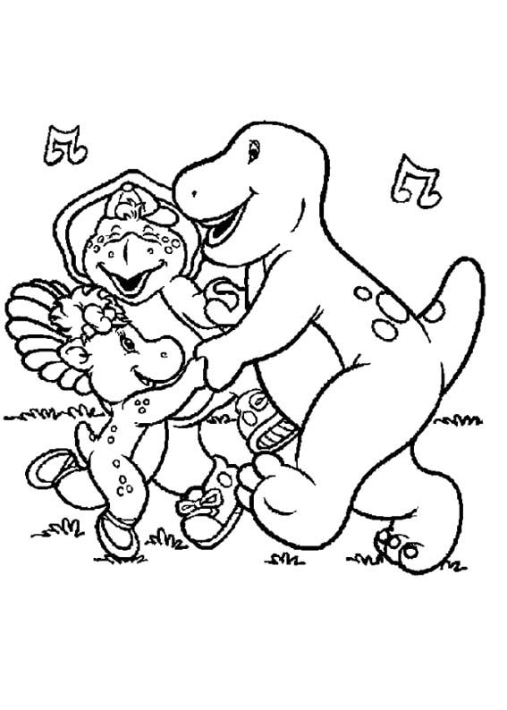 Barney And Friends Coloring Page Super Coloring Pages Coloring