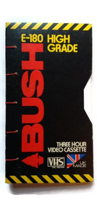 BUSH VHS Video Box coptic stitched journal