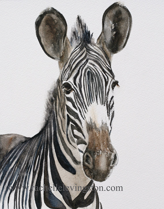 For Him For Dad Dorm Decor Giraffe Painting Watercolour Print Art