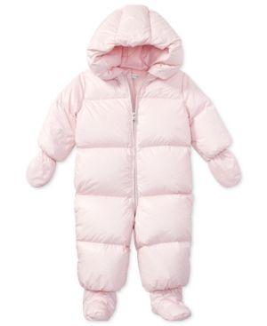 c97f07441 Ralph Lauren Snowsuit, Baby Girls (0-24 months) - Hint of Pink 18 ...