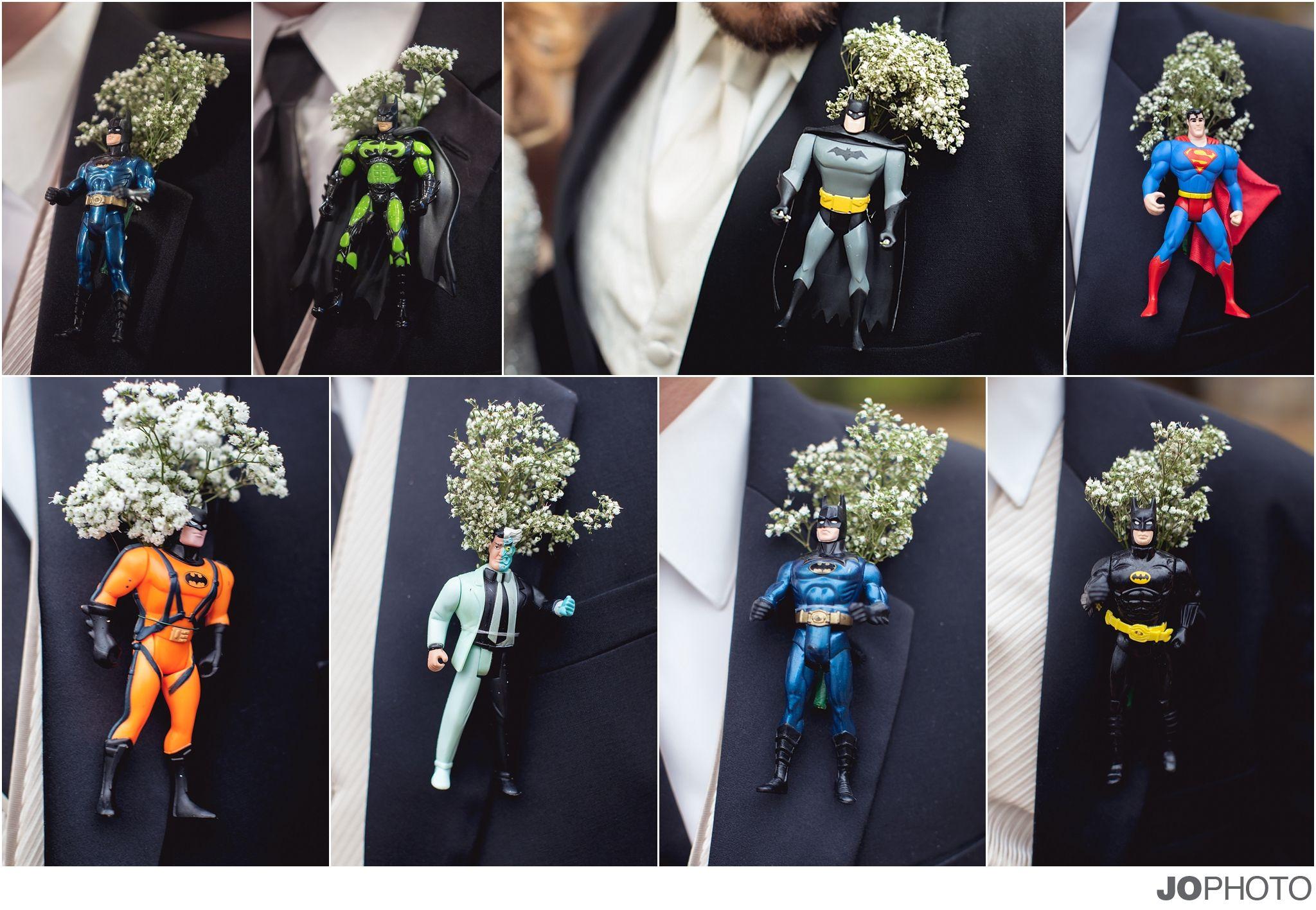 Batman Wedding Gift: Superhero Boutonnieres, Batman, Super Man, Knoxville