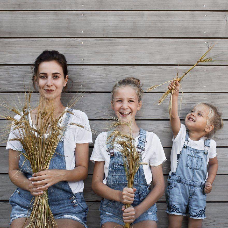 Открыток, мама и две дочки картинки