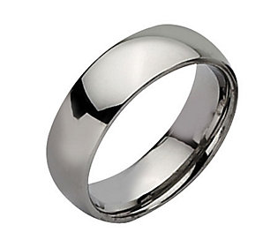 Steel By Design 7mm Polished Ring Qvc Com Stainless Steel Wedding Bands Mens Stainless Steel Rings Stainless Steel Rings