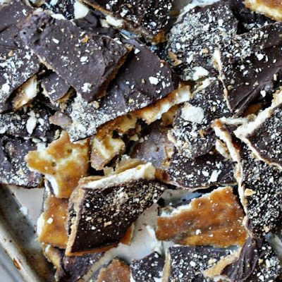 Saltine Toffee- a lady at work made these and they are awesome!!!