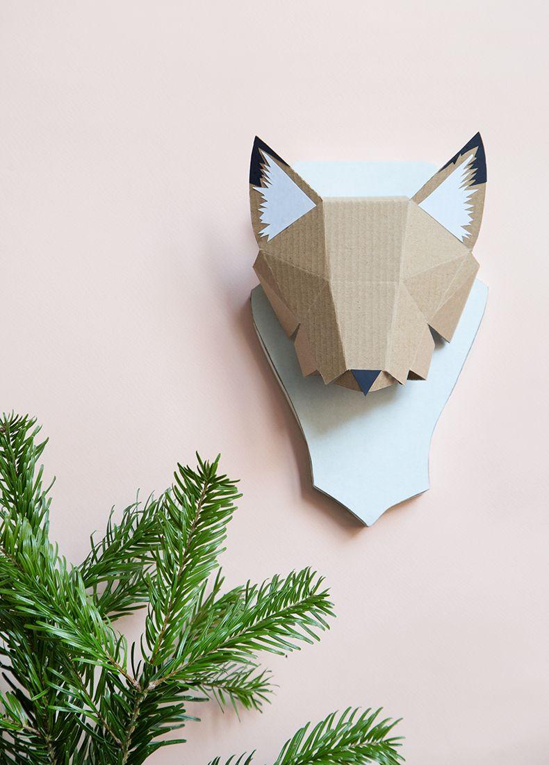 Trophee Renardeau Ikea Cop21 Artisanat Bricolage Papier Pop Up Art Et Diy