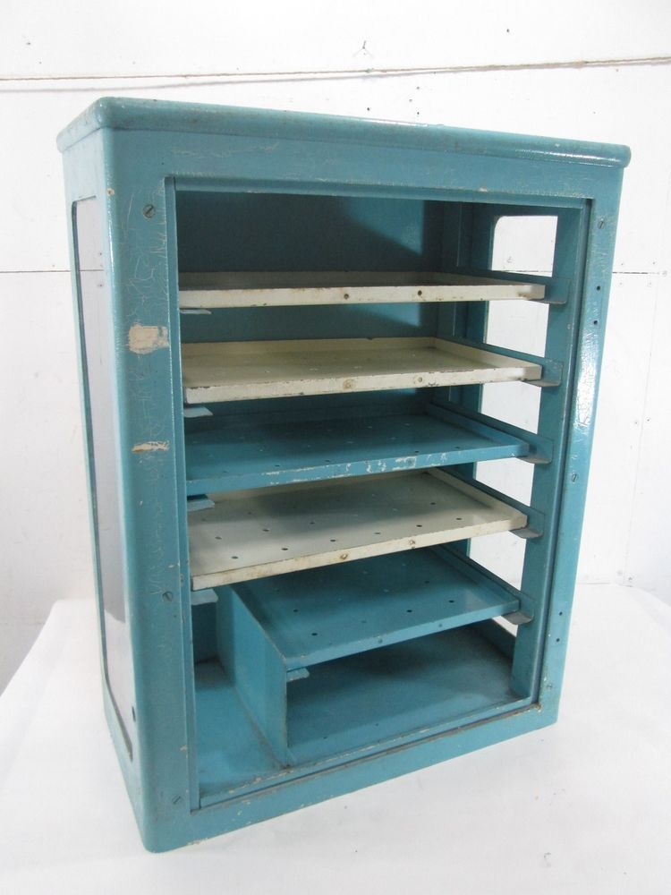 Vintage Heavy Metal Medical Wall Cabinet 26 X 20 H 10 D