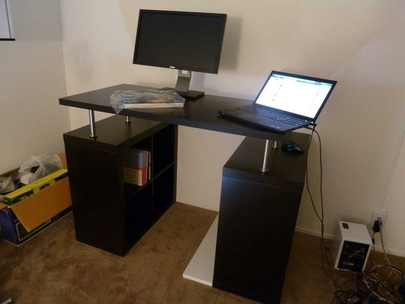Stand Up Office Designs : Ikea standing desk with computer monitor dining room
